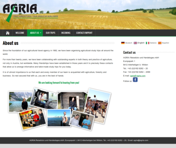 Agria Tours About englisch