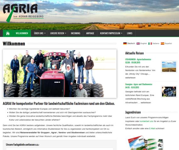 Agria Tours Startseite