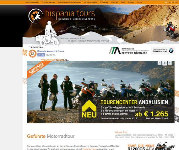 Content-Management Lösung für Hispania Tours