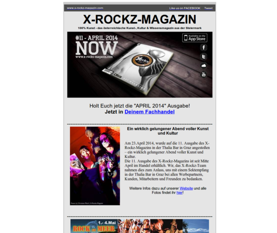 X-Rockz Newsletter